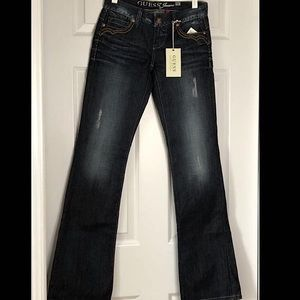 Guess Low Rise Flared Butterfly Pocket Jeans